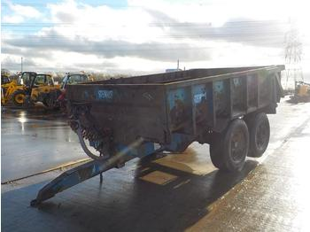 2002 Stewart Twin Axle Drawbar 14 Ton Dump Trailer - المقطورة الزراعية