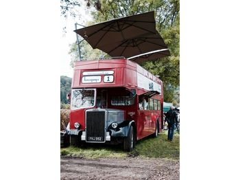 حافلة ذات طابقين Leyland PD3 British Double Decker Bus Open Top Deck Pub Bar Hospitality