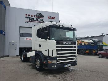 SCANIA L124.470, Steel /Air - شاحنة جرار