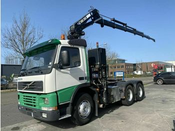 شاحنة جرار Volvo FM12-380 6X4 MANUAL FULL STEEL + HIAB 200-5 YEAR